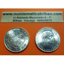 ESPAÑA 100 PESETAS 1966 * 19 67 FRANCISCO FRANCO SIN CIRCULAR DE CARTUCHO PLATA MONEDA DEL ESTADO ESPAÑOL