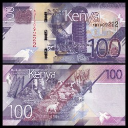 KENIA 100 SHILINGI 2019 Nuevo diseño ANIMALES y VEGETALES Pick 53 BILLETE SC Africa KENYA UNC BANKNOTE 100 Shillingi