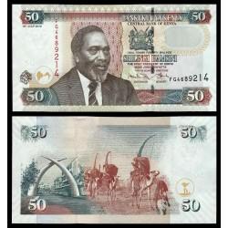 KENIA 50 SHILINGI 2010 CAMELLOS y CUERNOS DE ELEFANTE y MZEE JOMO KENYATTA Pick 47E BILLETE SC Kenya 50 Shillings