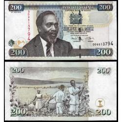 KENIA 200 SHILINGI 2010 RECOLECTANDO ALGODON y MZEE JOMO KENYATTA Pick 49E BILLETE SC Kenya 200 Shillings UNC BANKNOTE