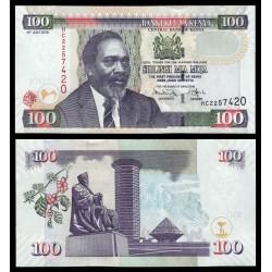 KENIA 100 SHILINGI 2010 RASCACIELOS, ESTATUA y MZEE JOMO KENYATTA Pick 48E BILLETE SC Kenya 100 Shillings UNC BANKNOTE