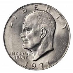 ESTADOS UNIDOS 1 DOLAR 1971 P EISENHOWER y AGUILA SOBRE LA LUNA KM.203 MONEDA DE NICKEL SC USA $1 Dollar