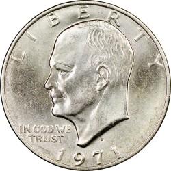ESTADOS UNIDOS 1 DOLAR 1971 D EISENHOWER y AGUILA SOBRE LA LUNA KM.203 MONEDA DE NICKEL SC USA $1 Dollar