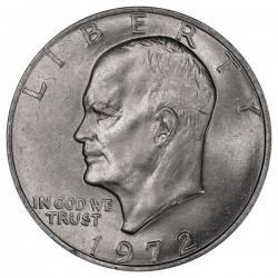 ESTADOS UNIDOS 1 DOLAR 1972 P EISENHOWER y AGUILA SOBRE LA LUNA KM.203 MONEDA DE NICKEL SC USA $1 Dollar