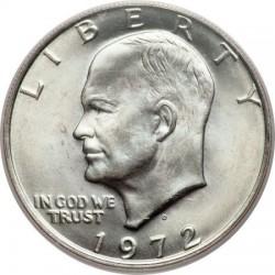 ESTADOS UNIDOS 1 DOLAR 1972 D EISENHOWER y AGUILA SOBRE LA LUNA KM.203 MONEDA DE NICKEL SC USA $1 Dollar