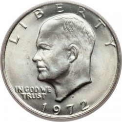 USA 1 DOLLAR 1972 D EISENHOWER NICKEL UNC-
