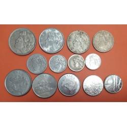 13 monedas x BRASIL 1+2+5+10+20+50 CENTAVOS 1+5+10+20+50 CRUZEIRO 1965/1983 ACERO CIRCULADAS