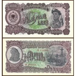 ALBANIA 1000 LEKE 1957 MINEROS y ESTACION PETROLERA Serie PH Pick 32A BILLETE SC Albanien UNC banknote