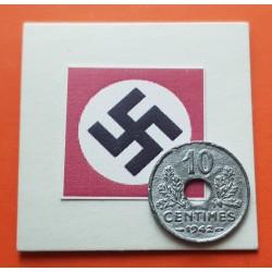 FRANCIA 10 CENTIMOS 1942 Grande KM*898.1 III REICH NAZI WWII