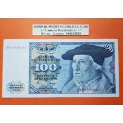ALEMANIA 100 MARCOS 1980 SEBASTIAN MUNSTER y AGUILA Pick 34D BILLETE MBC @AGUJERITOS@ Germany Federal BRD 100 Marks NUEVO 140€