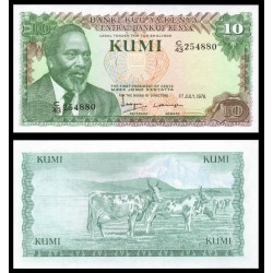 KENIA 10 SHILLINGS 1978 PRESIDENTE KENYATTA y VACAS Pick 16 BILLETE SC Africa KENYA 10 Shilingi Tano UNC BANKNOTE